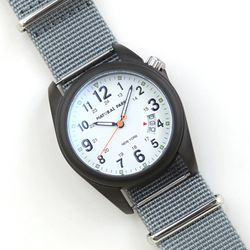 NaturalPark Camper with nato strap NP1325-BW-NTB
