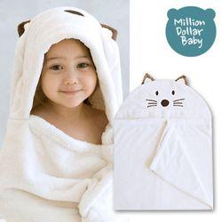 베이비 후드타올 고양이(신생아목욕타올 비치가운)