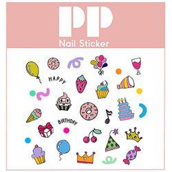 PP NAIL STICKER - BIRTHDAY
