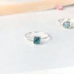 에메랄드 행성- 큐브 Silver Ring (5월 탄생석)