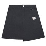 Unbalance Denim Skirt (black)
