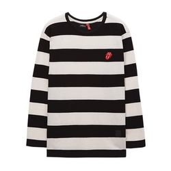 THE ROLLING STONES CLASSIC TONGUE BORDER TEE BK