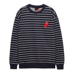 THE ROLLING STONES VINTAGE TONGUE STRIPE CREW NA