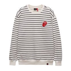 THE ROLLING STONES VINTAGE TONGUE STRIPE CREW IV