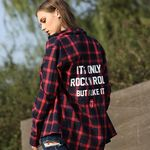 THE ROLLING STONES IORR CHECK SHIRT RED