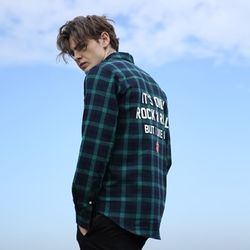 THE ROLLING STONES IORR CHECK SHIRT GREEN