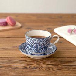 코코리코 블루 코바나 커피잔 받침세트