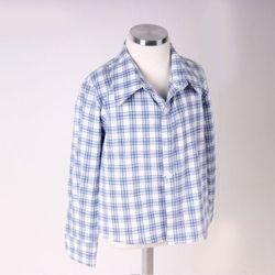 와이파파 블루 체크 셔츠-화이트(16SSYS11)