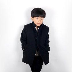 와이파파 아동 울 맥코트-블랙(15FWCT06-BL)