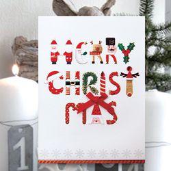 메리크리스마스 카드 FS1024-1