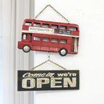 버스 오픈 클로즈 사인보드