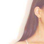 가넷 lingering 롱 체인 earring (1월 탄생석)