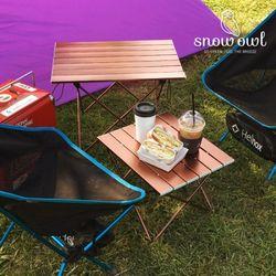 스노우아울 캠핑 초경량 알루미늄 롤 테이블 소형