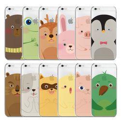 동물 캐릭터 투명젤리 예쁜 핸드폰케이스