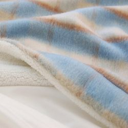 Tartan Wool Blanket-Sky(스몰)