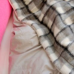 Tartan Wool Blanket-Black(스몰)