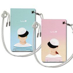 모자 커플 목걸이카드지갑 주문제작 이니셜 아이템
