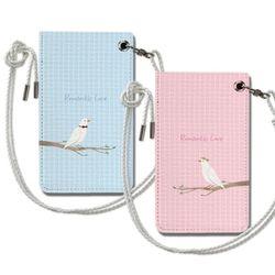 비둘기 커플 목걸이카드지갑 주문제작 이니셜 아이템