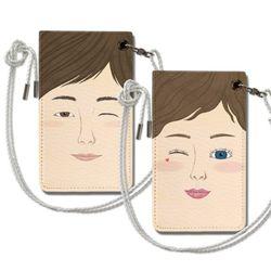 윙크 커플 목걸이카드지갑 주문제작 이니셜 아이템