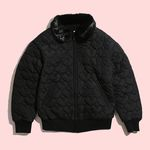 [Holiday Collection] BLACK HEART BOMBER JACKET
