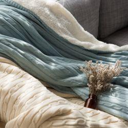 포밍니트 담요 (100x150) - 블루