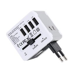 JY-192 해외여행용 멀티아답터(3.5A USB4포트)+파우치