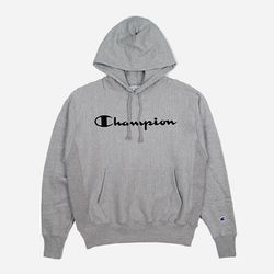 Champion USA Reverse Weave Logo Pullover grey