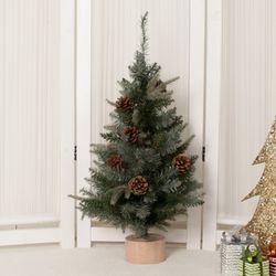 고급그레이솔방울트리 75cm 크리스마스트리