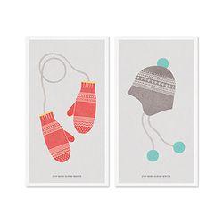 Winter card set-Gray