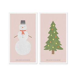 Winter card set-Pink