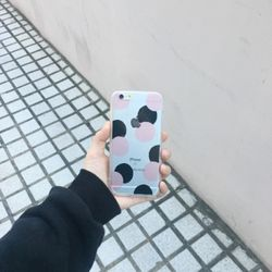 투톤도트 필름지 (아이폰)