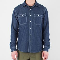 WORKER DARK DENIM SHIRT
