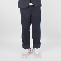 WASHED FATIGUE PANTS - NAVY