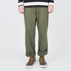 WASHED FATIGUE PANTS - KHAKI