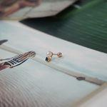 낱개판매 14k 5mm진주 사각 토파즈 피어싱