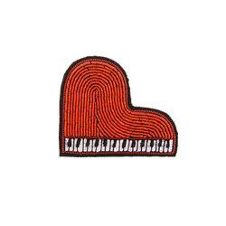 마콩 자수브로치_하트 피아노