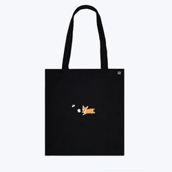 corgi cotton bag