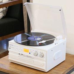 사운드룩 오디오 CDUSBRADIO LP턴테이블 SLT-300W