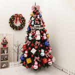 눈사람패밀리PVC트리300cm 단면(전구포함) 크리스마스