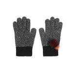 [Smart Phone]Lovable mink Gloves black