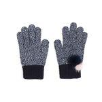 [Smart Phone]Lovable mink Gloves blue