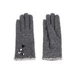 [Smart Phone]Stitch on Ash Gloves GRAY