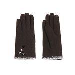 [Smart Phone]Stitch on Ash Gloves BROWN