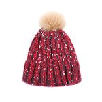Lovable Fox knit Hat RED