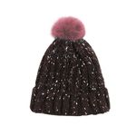 Lovable Fox knit Hat BROWN