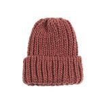 So Heavy knit Hat RED BROWN
