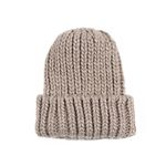 So Heavy knit Hat BEIGE