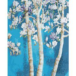 DIY명화그리기키트 - 겨울 나무 물감2배/컬러도안