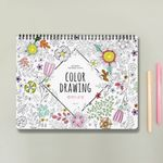 스프링 컬러 드로잉 색칠공부 연습북