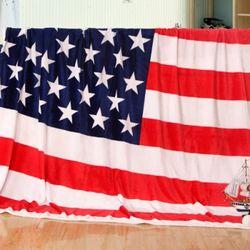 미국 성조기 극세사 담요 겸 이불 150x200cm